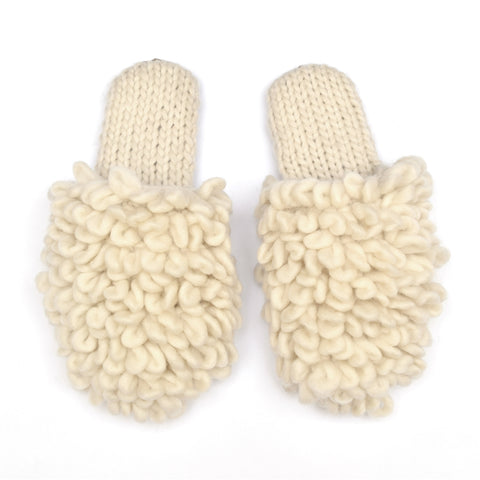 Loop Scuff Alpaca Slipper Ivory