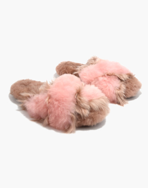 Sophie Alpaca Slipper Blush/Pink
