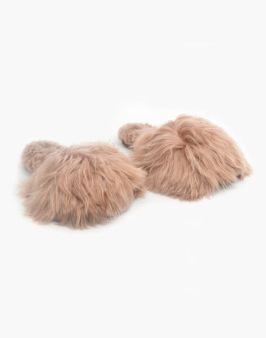 Suri Alpaca Slipper Slide Blush