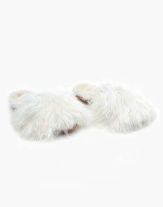 Suri Alpaca Slipper White