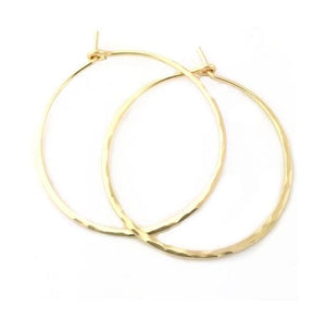 Selah Vie medium hammered hoop earrings 1.5""