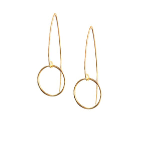Selah Vie circle marquise earrings