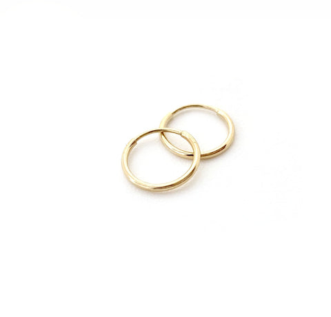 Selah Vie 14K mini hoop earrings
