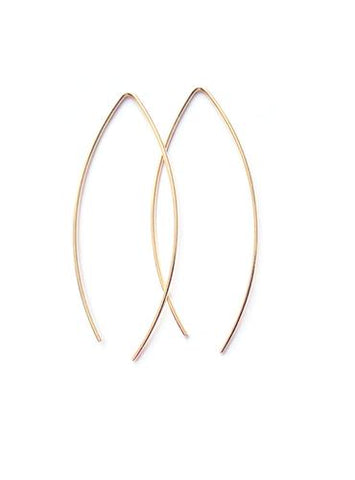 Selah Vie Plain Marquise earrings