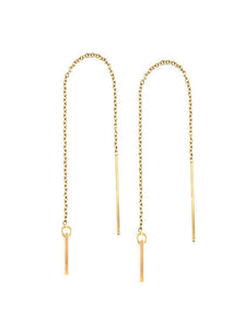 Selah Vie Bar threader earrings