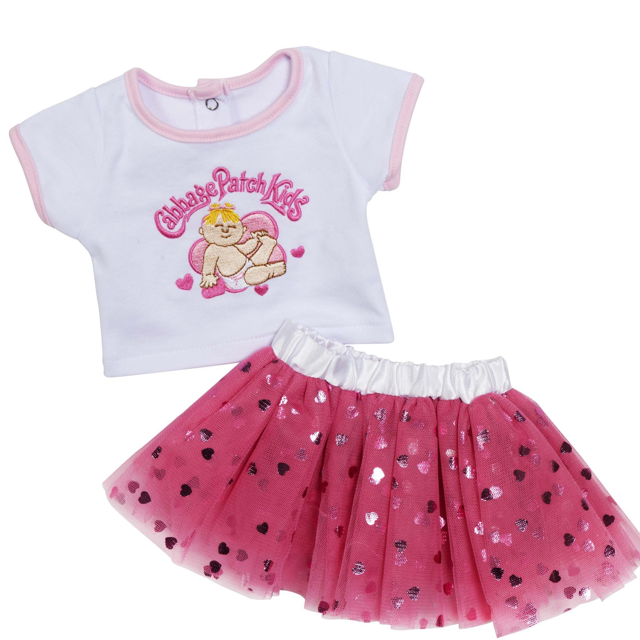 BabyLand Collection C Outfit Pink Heart Tutu
