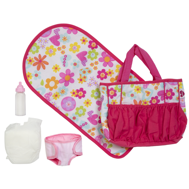 Adora Diaper Bag & Accessories Bright Pink