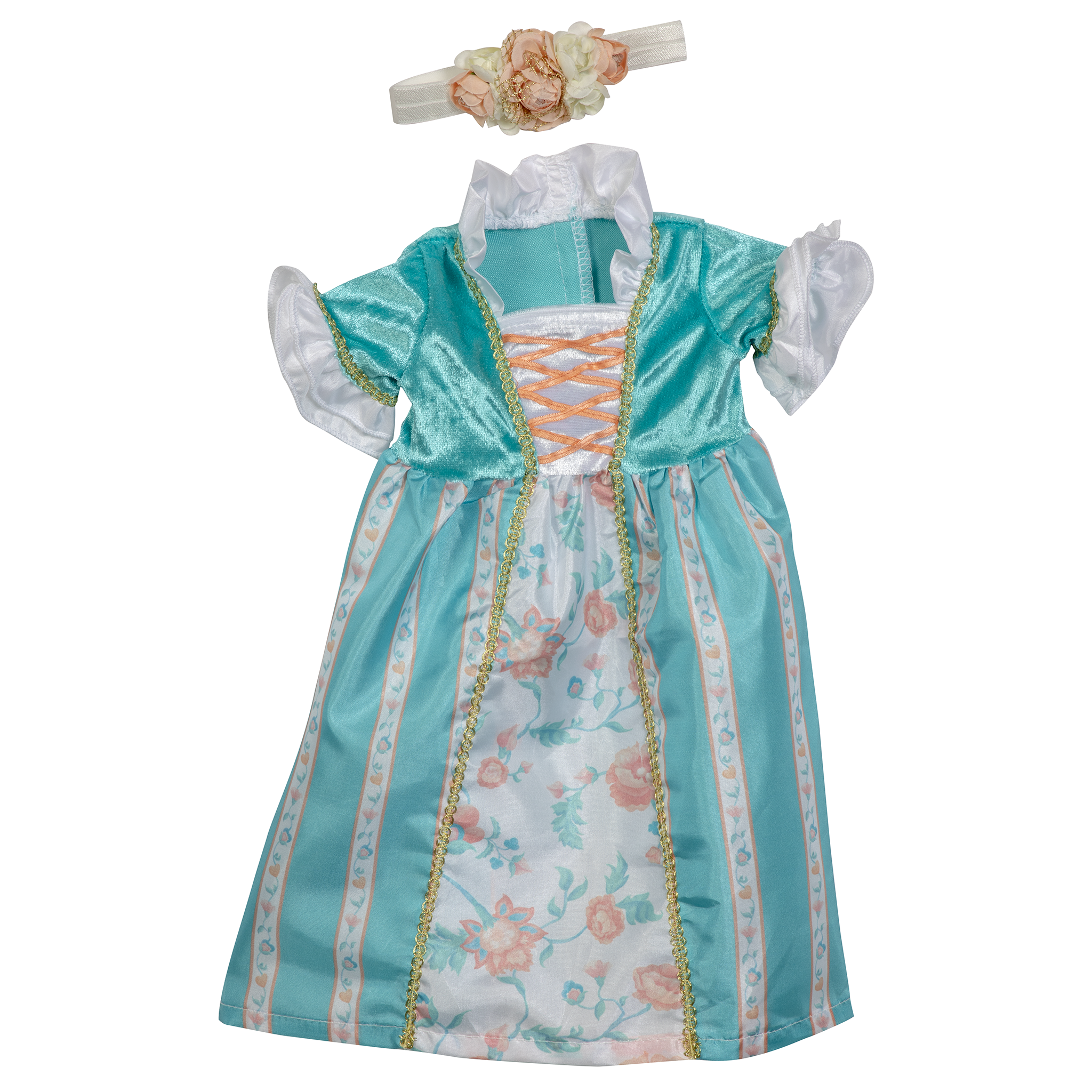 Princess Ava Teal Doll Dress 17-20""