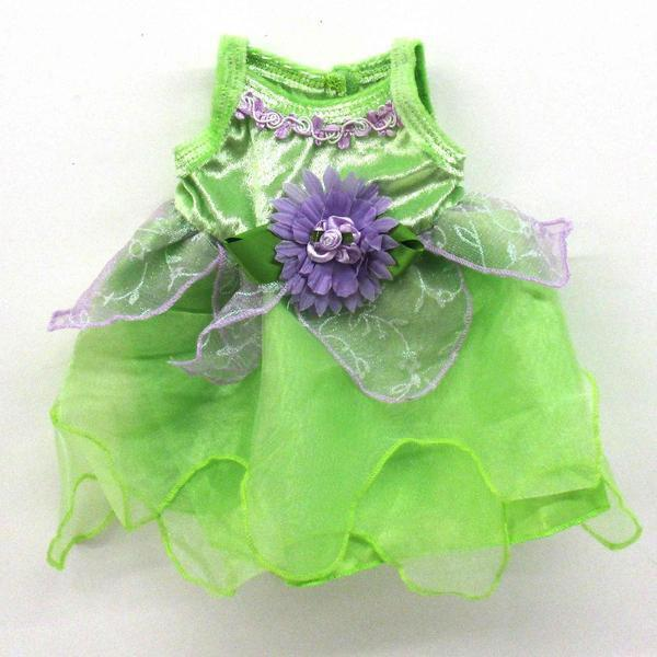 Tinker Bell Green Dress w/purple flower  / 17-20""