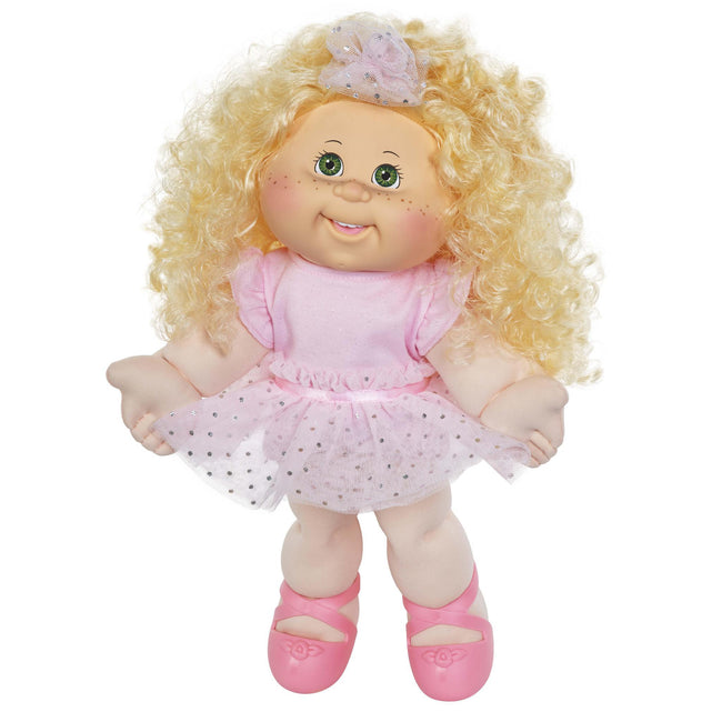 "14"" Girl Lt Gr Blond Freckles Dancer"