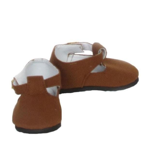 Brown Canvas Mary Janes / 20""