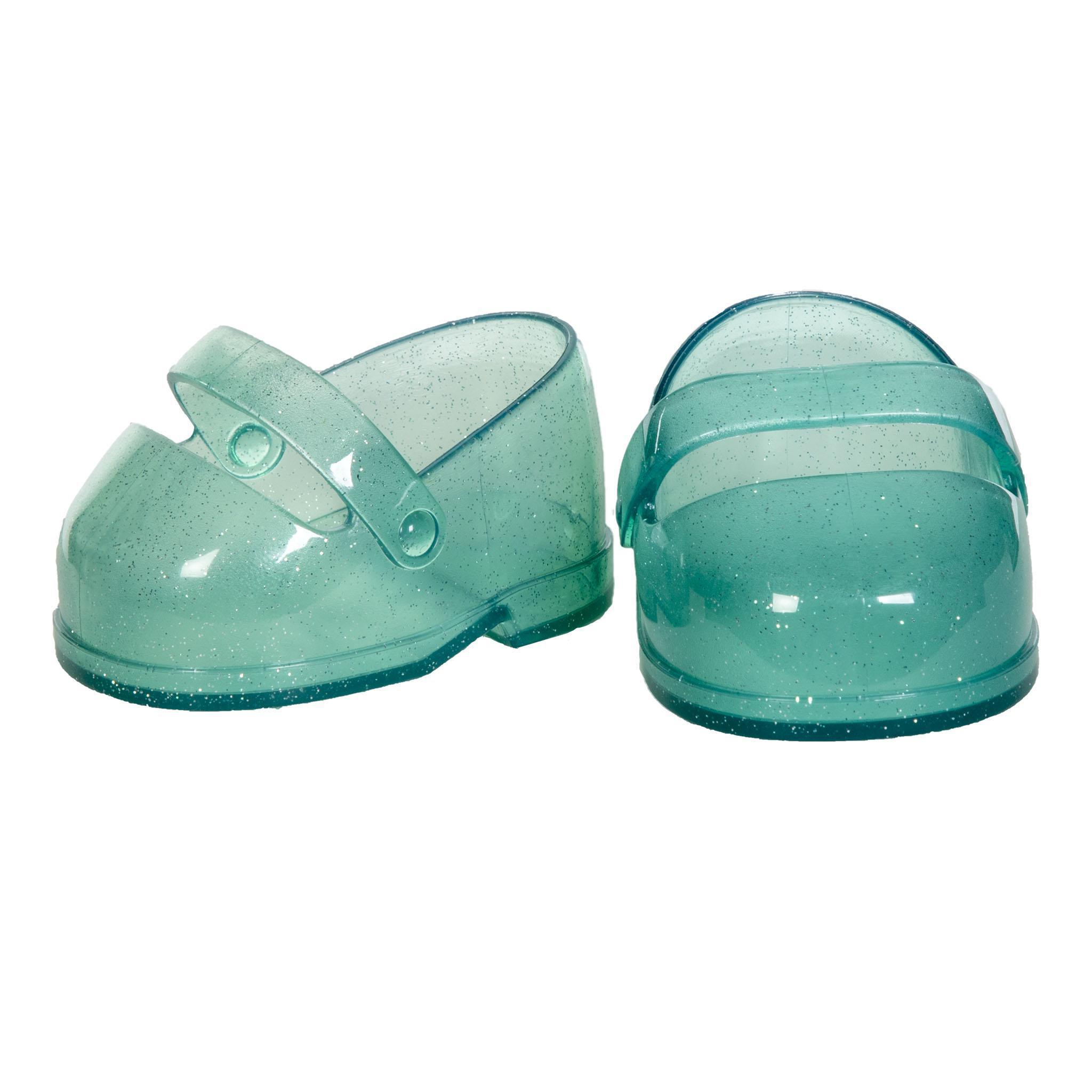 CPK Teal Glitter Mary Jane Shoes