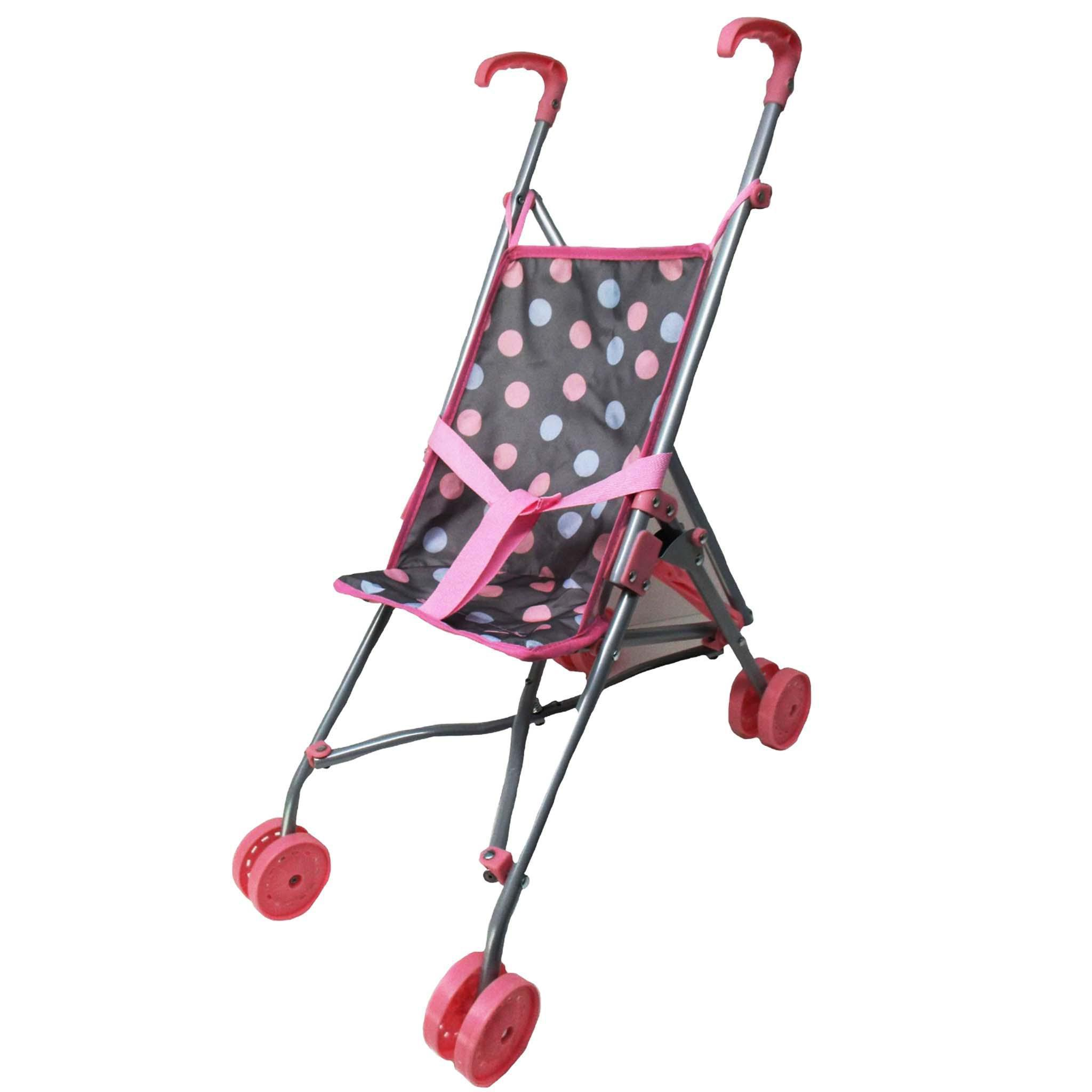 Lissi Umbrella Stroller Grey w/ Multi-Color Dots