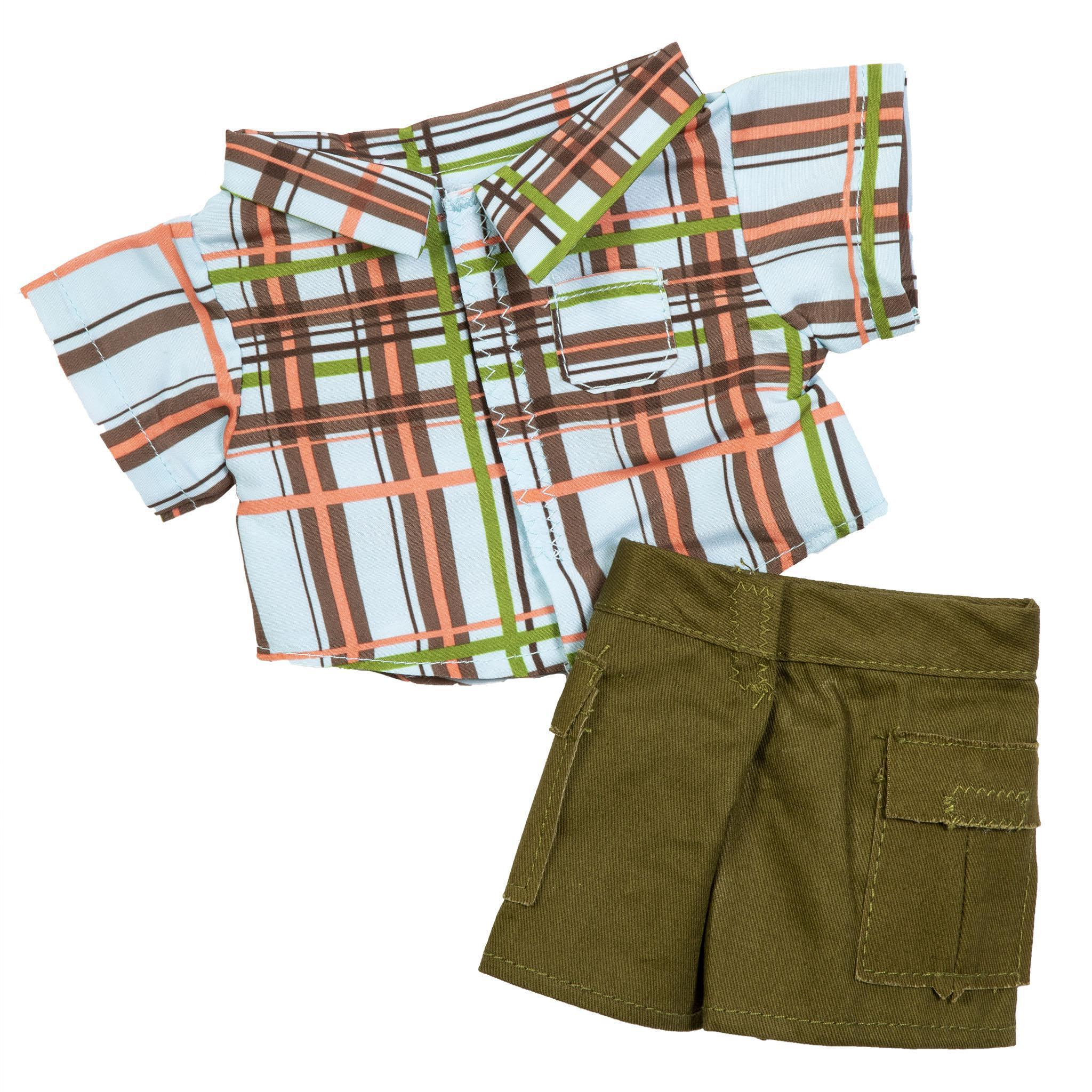 CPK Kids Boy Fashion Plaid with Shorts Fits 14""