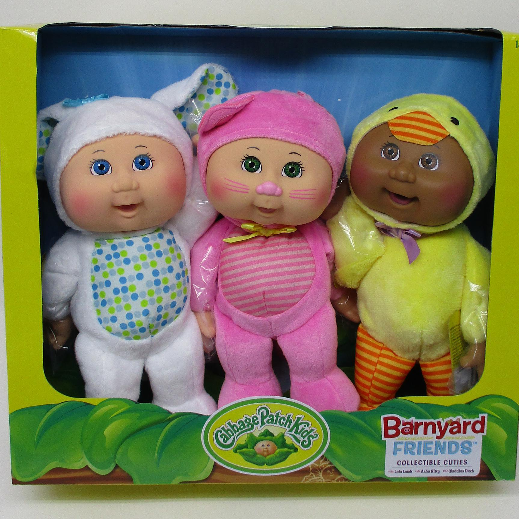 3 Pack Barnyard Friends Lamb, Kitty, Duck