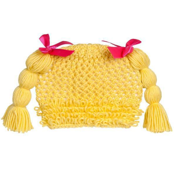 CPK Yarn Wig Hat Blond One Size