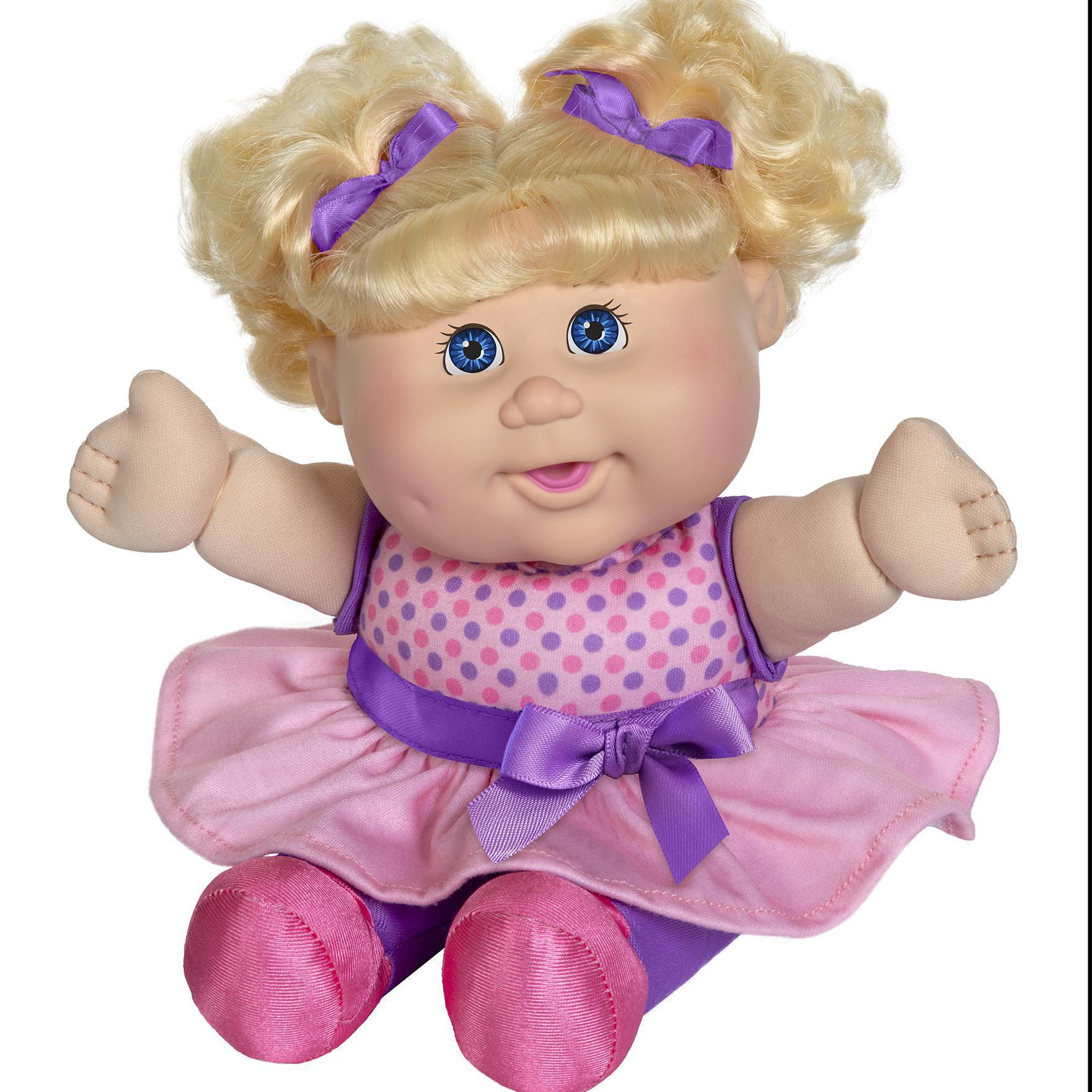 "11"" Deluxe Toddler Babble 'N Sing Lt Bl Blond Pink"