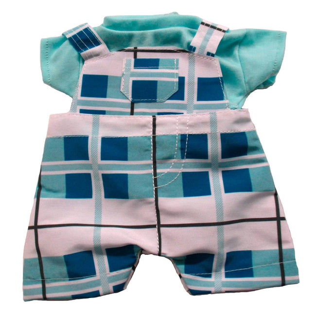Baby Boy Fashion Blue Plaid Fits 12.5""