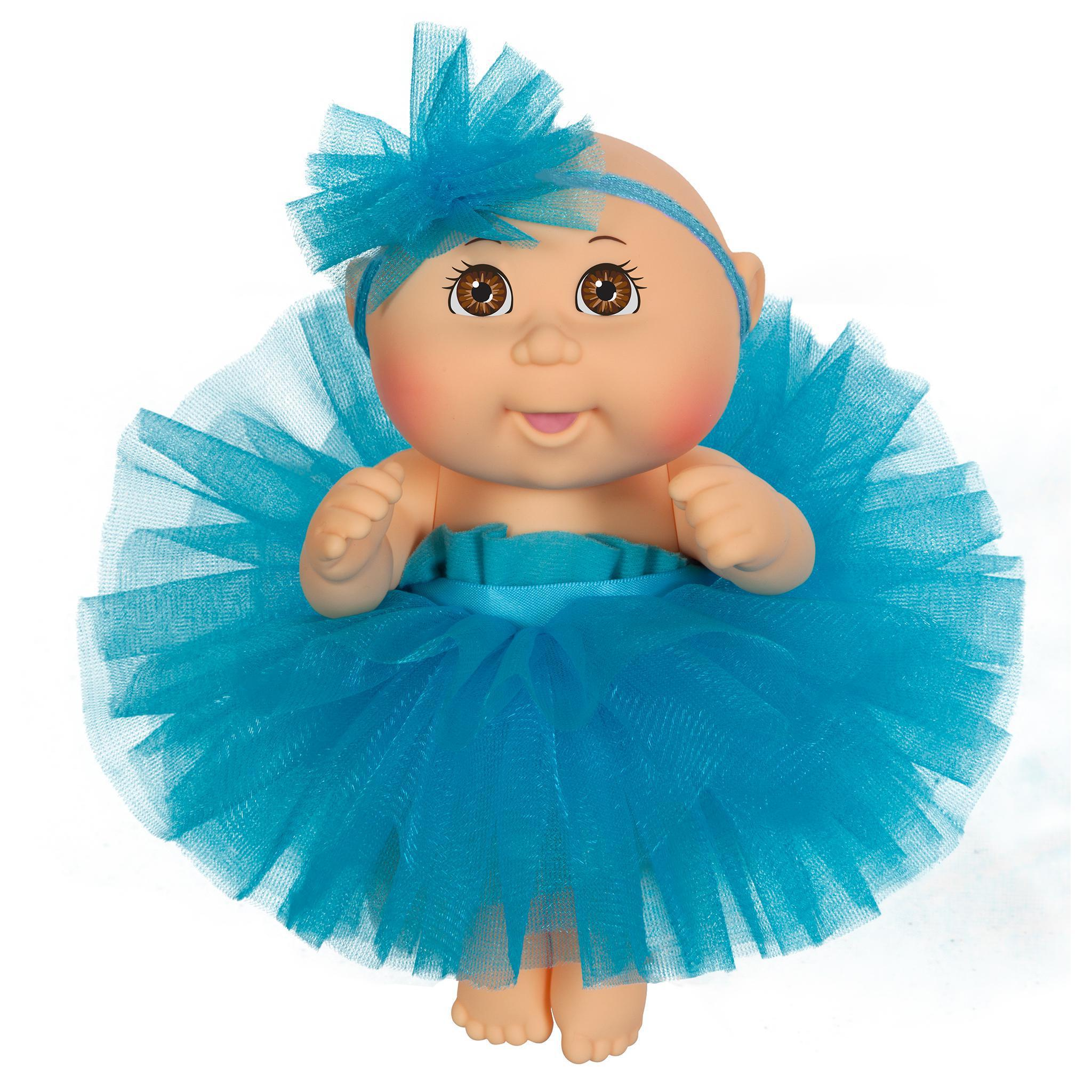"9"" Dance Time Girl Lt Br Blue Tutu"