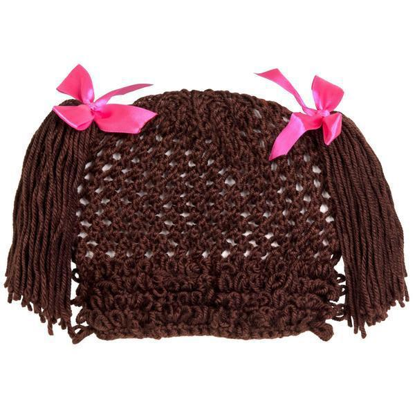 CPK Yarn Wig Hat Brown One Size