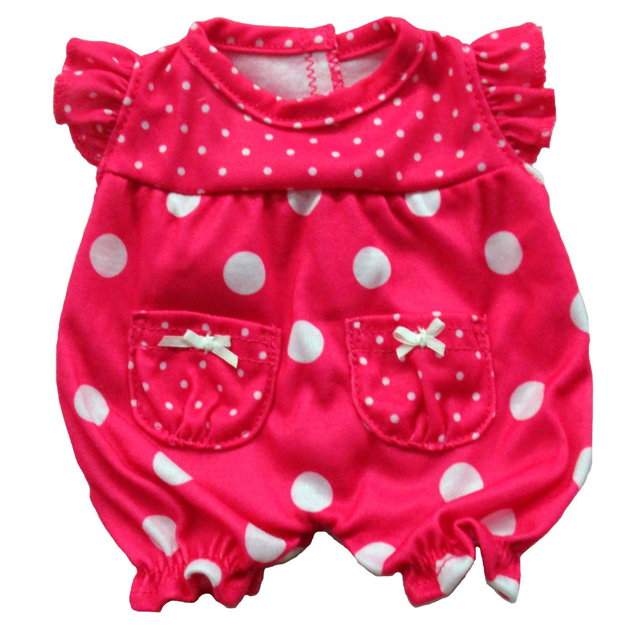 Baby Fashion Polk-A-Dot Romper Fits 12.5""