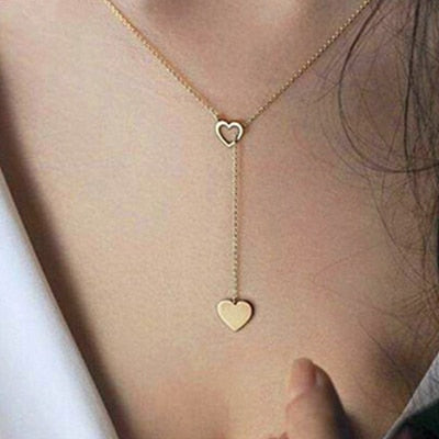 New Fashion Heart Moon Pendant Necklace Crystal Necklace