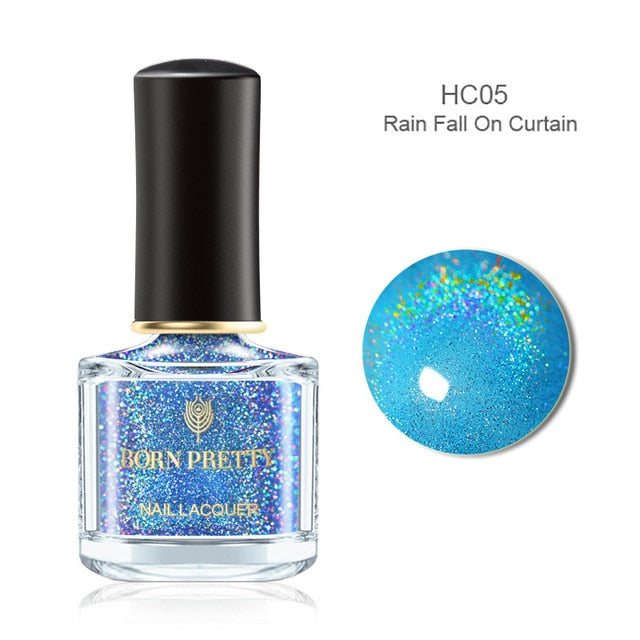 BORN PRETTY Holographic Laser Nail Polish 6ml Flourish Series Varnish Shining Glittering Nail Art Lacquer Polish