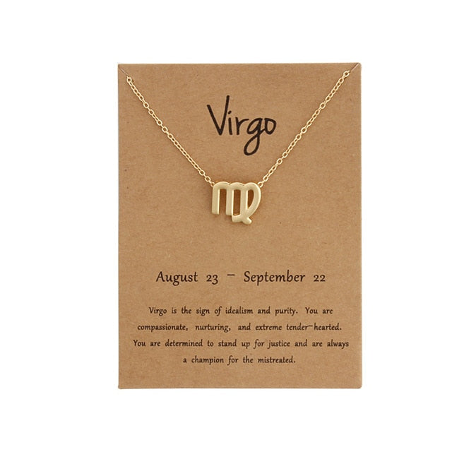 Necklace Birthday Gifts Message Card for Women Girl