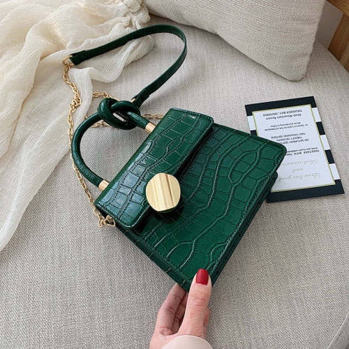 Quality Stone Pattern Leather Crossbody Bags For Women Designer Small Handbags Chain Shoulder Messenger Bag Mini Purses Hand Bag