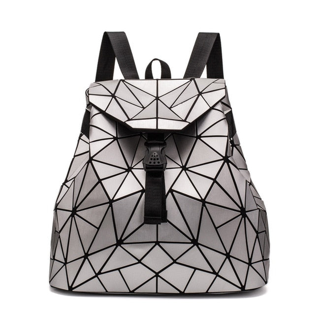 2019 Fashion Matte Women Backpack Female Black Backpacks Daily Backpack For Girls Geometry Luminous Bagpack Noctilucent Bags Sac