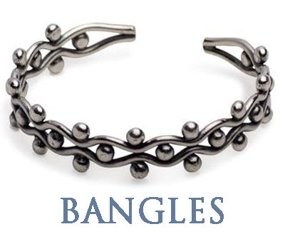Bangles in Gold and Silver 10K 14K 18K SilverAndGold