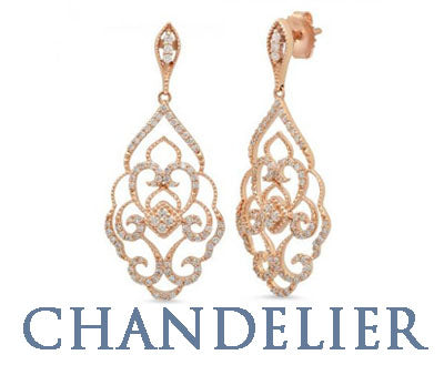 DIAMOND CHANDELIER EARRINGS SILVERANDGOLD