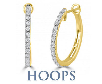 DIAMOND HOOP EARRINGS SILVERANDGOLD