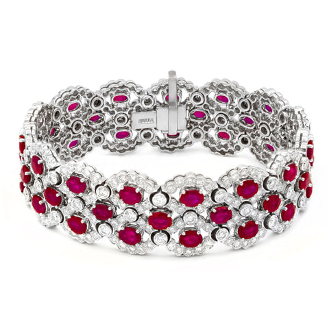 Diamonds and Rubies Bracelet