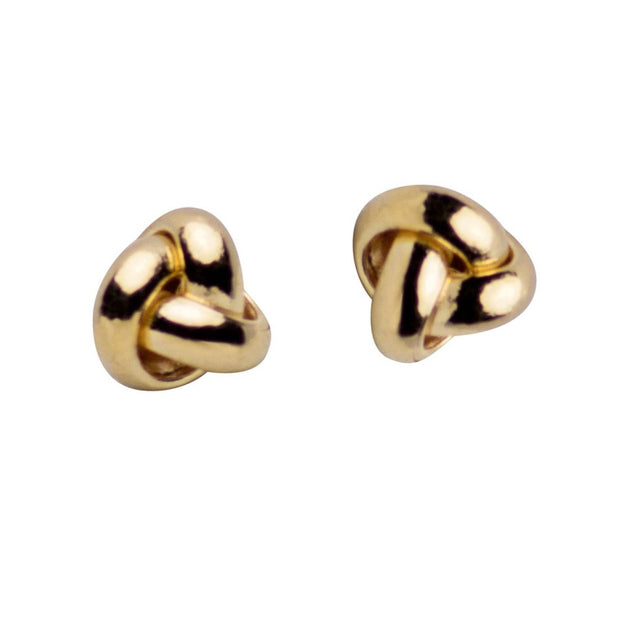 10K Yellow Gold Love Knot Stud Earrings
