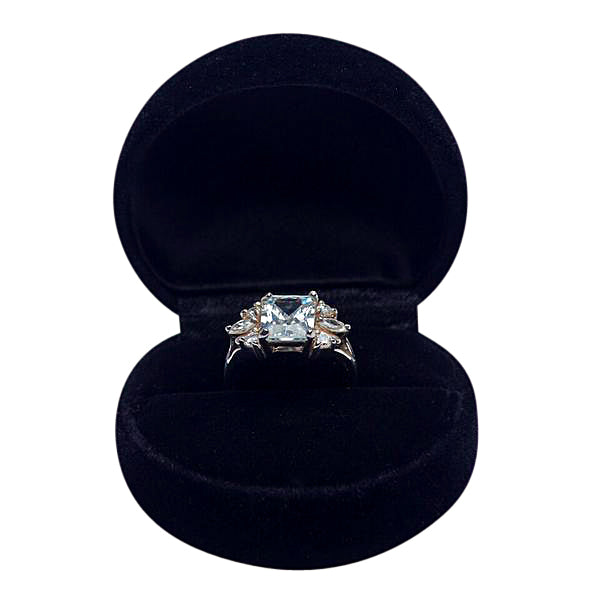 Sterling Silver & Cubic Zircon Solitaire Ring