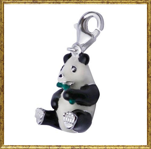 Panda Bear Pendant in Sterling and Black and White Enamel - SilverAndGold.com Silver And Gold