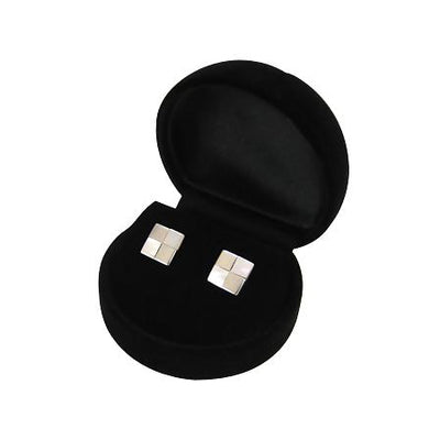Mother of Pearl Sterling Silver Square Earrings | SilverAndGold