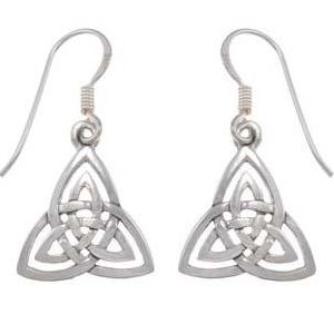 Sterling Silver Dangle Celtic Earrings | SilverAndGold