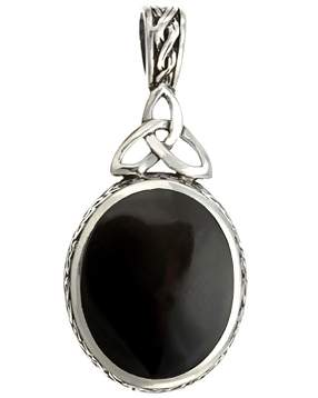 Sterling Silver Necklace with Mother of Pearl and Black Onyx
