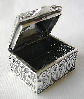 Ornate Miniature Jewelry Box