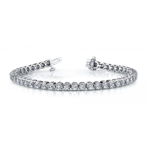 2.5 TCW Natural Diamond Tennis Bracelet - SilverAndGold.com Silver And Gold