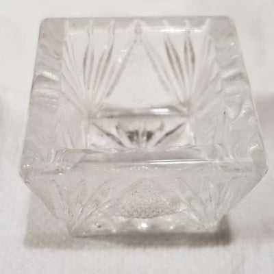 Crystal Square Hand Pressed Glass Ring Holder
