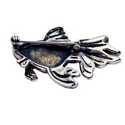 Sterling Silver Gold Fish Brooch
