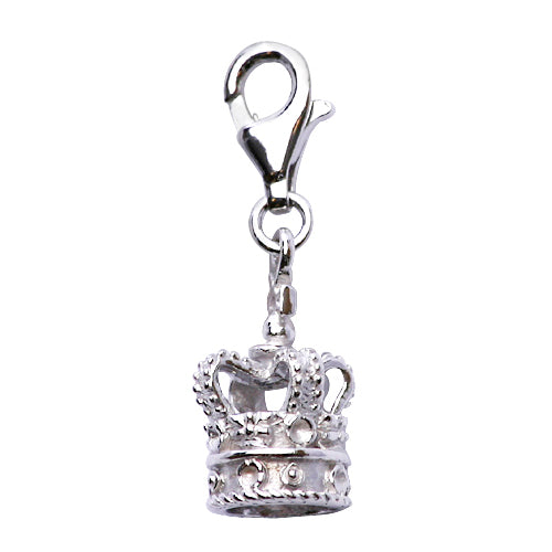 Sterling Silver Royal King's Crown Charm - SilverAndGold.com Silver And Gold