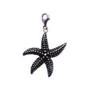 Sterling and Rhodium Starfish Sterling Silver Pendant Necklace - SilverAndGold.com Silver And Gold