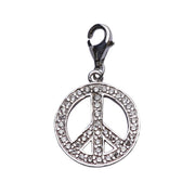 Sterling Silver Earrings: Crystal Gemstone Peace Sign - SilverAndGold.com Silver And Gold