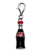 Classic Cola Bottle Charm in Sterling Silver and Enamel - SilverAndGold.com Silver And Gold