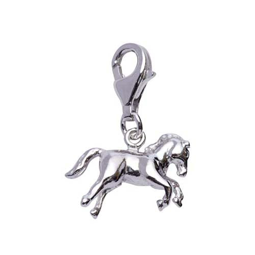 Sterling Silver Stallion Horse Charm - SilverAndGold.com Silver And Gold
