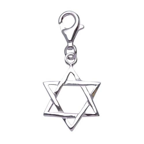Polished Sterling Silver Star of David Charm - SilverAndGold.com Silver And Gold